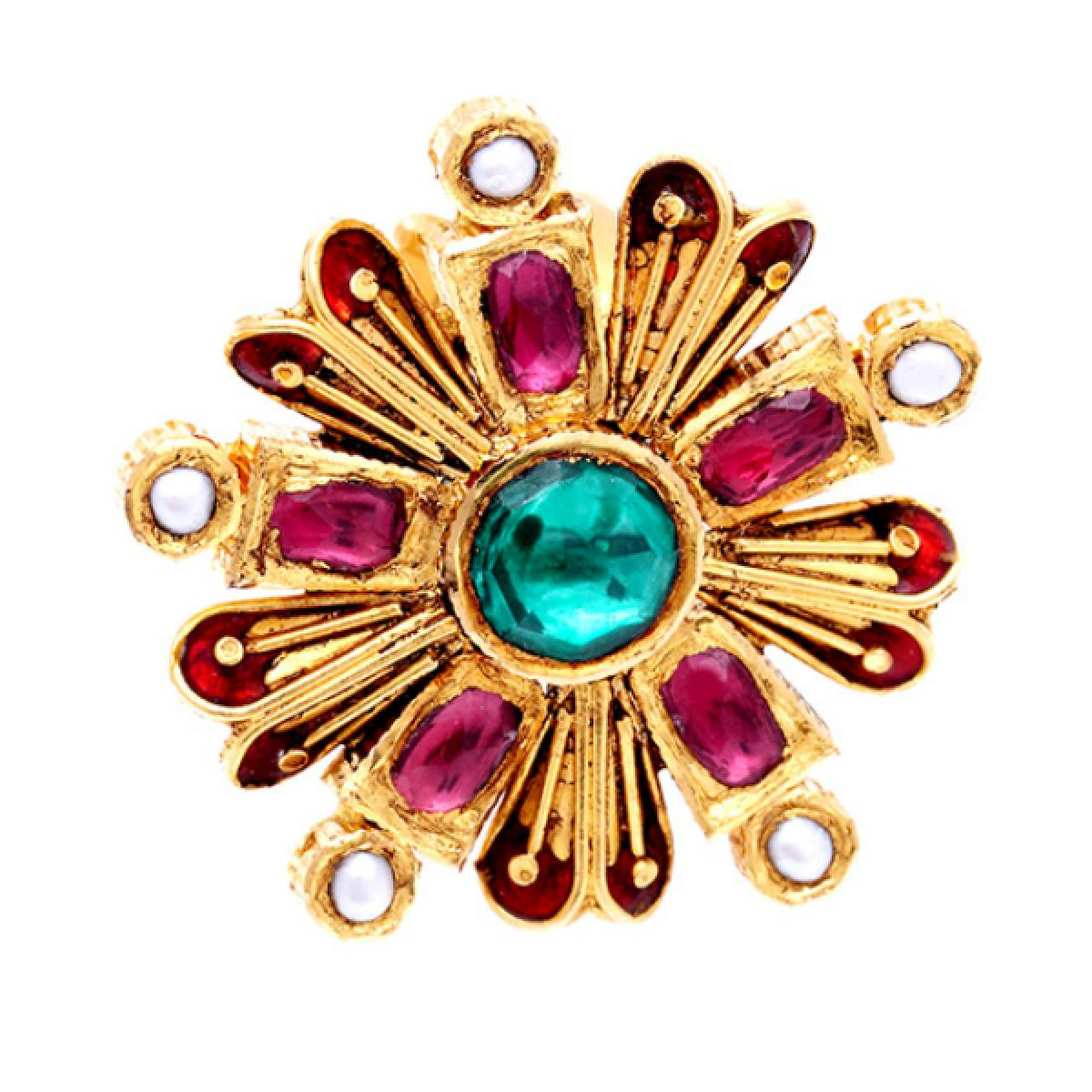 antic kundan ring