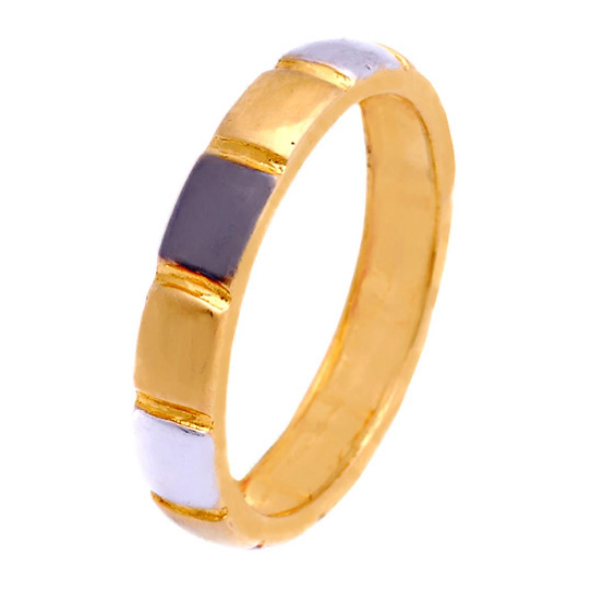 gold casting ring with rodium
